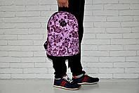 Спортивный, городской, школьный рюкзак (розовый + цветочки), Реплика