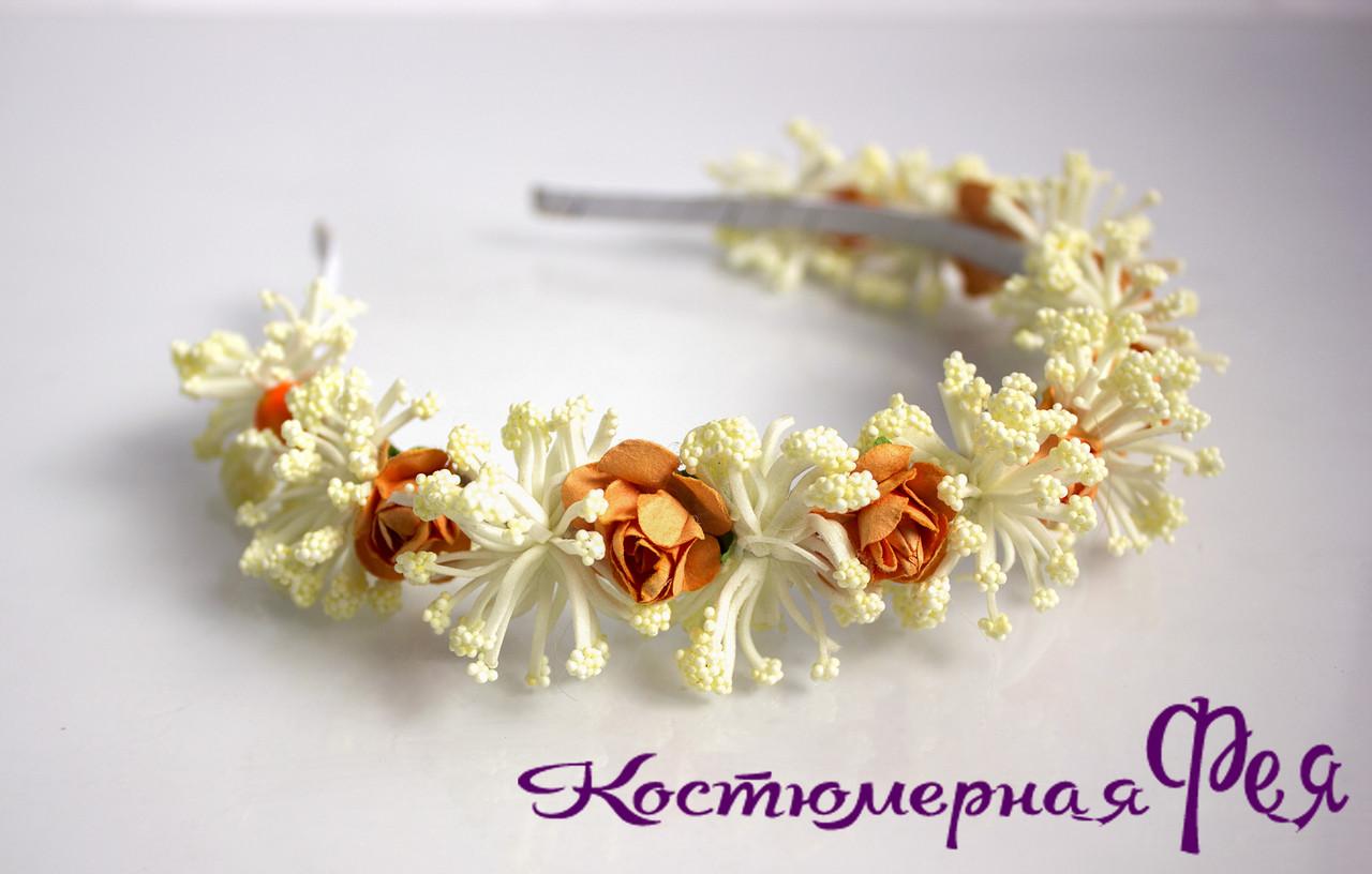 Обруч с цветами/веночек