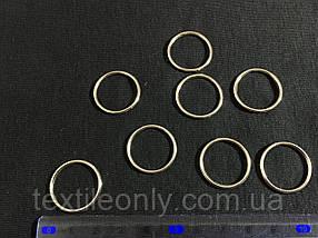 Кольцо бельевое 20 мм цвет никель (серебро)