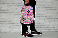 Спортивный, городской, школьный рюкзак (розовый + полосочки)