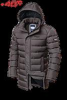 Куртка зимняя мужская на меху удлиненная Braggart Aggressive - 4672K сафари