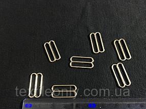 Перетяжка бельевая 20 мм цвет никель (серебро)