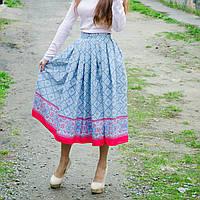 Хлопковая юбка-купон