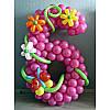 Цифра 6 из шаров латексных-композиция.