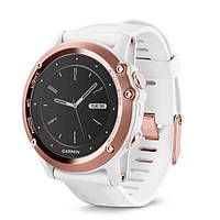 Умные часы Garmin Fenix 3 Sapphire, Rose Gold tone with White Band