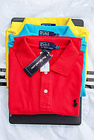 Мужская футболка Поло Ralph Lauren red. Живое фото. Топ качество!