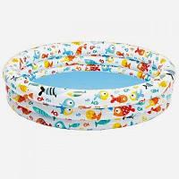 Круглый детский надувной басейн Intex 59431 для дачи и отдыха 138*28 см