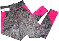 Лосины спортивные меланж цветные вставки эластик №95