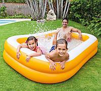 Семейный надувной бассейн Intex Мандарин 229x147х46 cм  (57181)