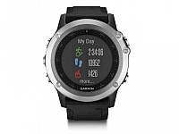 Умные часы Garmin Fenix 3 HR – Silver Edition with black silicone band