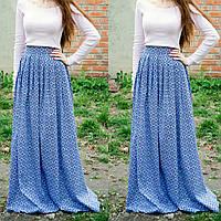 Длинная коттоновая юбка