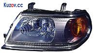 Фара Mitsubishi Pajero Sport 00-08 правая (DEPO) электрич., рант черн.