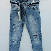 Стильные рванные джинсы для девочек 8-12лет