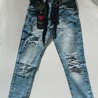 Стильные рванные джинсы для девочек 3-7лет