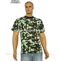 Футболка мужская К-01051, камуфляж зелёный, военная, кулир, хлопок, Bifabric