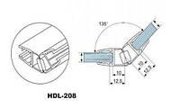 HDL-208 ПВХ ПРОФИЛЬ СТЕКЛО-СТЕКЛО МАГНИТНЫЙ (УПЛОТНИТЕЛЬ) 135 ГРАДУСОВ