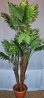 Пальма веерная искусственная тройная