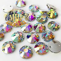 Пришивные стразы Xirius (синтетич.стекло) 8мм Цвет Crystal AB