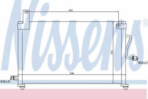 Радиатор кондиционера Daewoo Matiz 495*295мм по сотах (без осушителя) KEMP