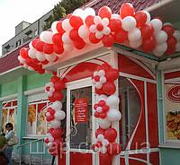 Оформление входа воздушными шарами