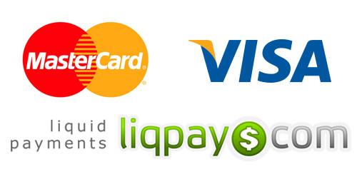 LiqPay, Visa, MasterCard