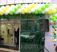 Оформление воздушными шарами торгового центра