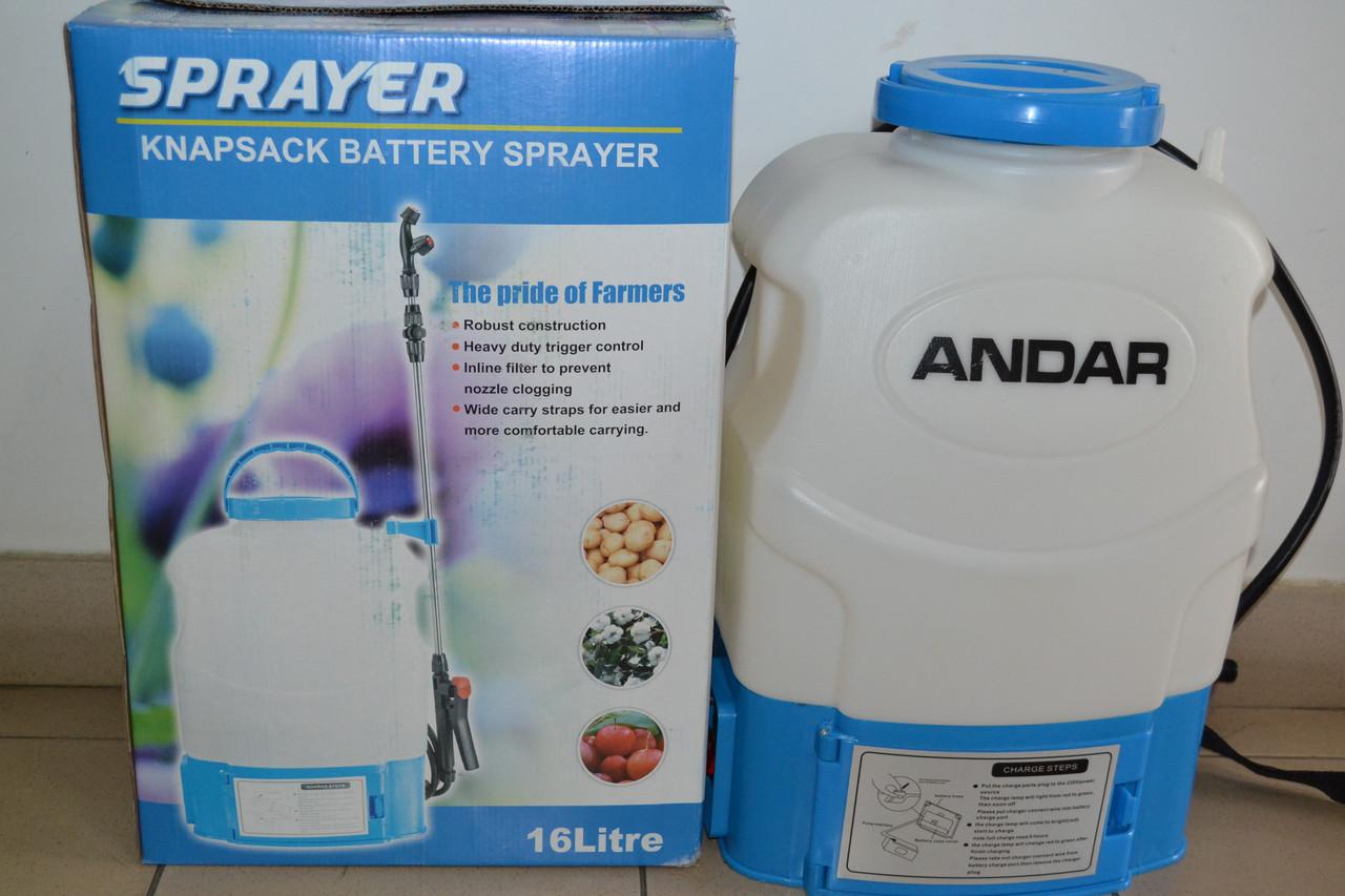 Обприскувач акумуляторний Andar Electric 16L