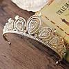 Диадема высокая корона АЛИСИЯ Тиара Виктория для волос свадебная диадема украшения, фото 4