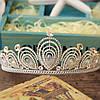 Диадема высокая корона АЛИСИЯ Тиара Виктория для волос свадебная диадема украшения, фото 6