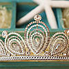 Диадема высокая корона АЛИСИЯ Тиара Виктория для волос свадебная диадема украшения, фото 7