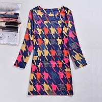 Женское платье в яркий узор РМ7317