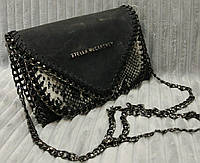 Женская яркая сумка-клатч на цепочке . Цвета в ассортименте. Материал: эко кожа+замш. Размер 23х17.
