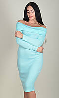 Платье футляр хомут с открытыми плечиками ZANNA BREND 693 S,M,L,XL (44,46,48,50) мятный, фото 1