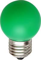 LED лампа декоративная цветная зеленая