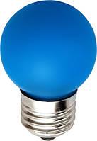 Шарик LED лампа декоративная цветная синяя