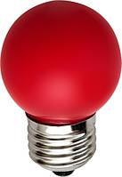 LED лампа декоративная цветная красная