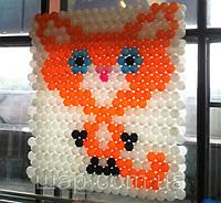 Панно из воздушных шариков для выставки кошек