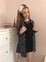 Школьный комплект платье с кардиганом :Размеры 122-152