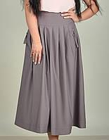 Длинная женская бежевая юбка