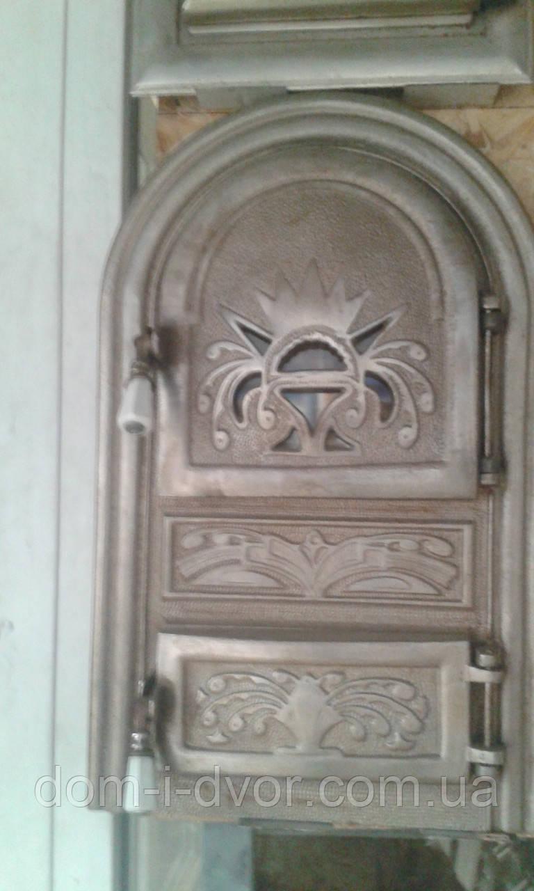 """Дверцы(дверки) чугунные """"Чаша """"со стеклом, дверь печная"""