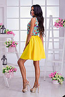 Женския яркий костюм юбка + топ