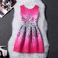 Женское платье розовое с узором CC7315