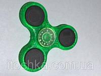 Спиннер (spinner) LED С подсветкой Green