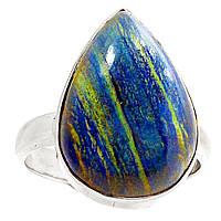 Малахит в азурите, серебро 925, кольцо, 519КМ