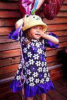 Платье из лёгенького джинса  (дочка)