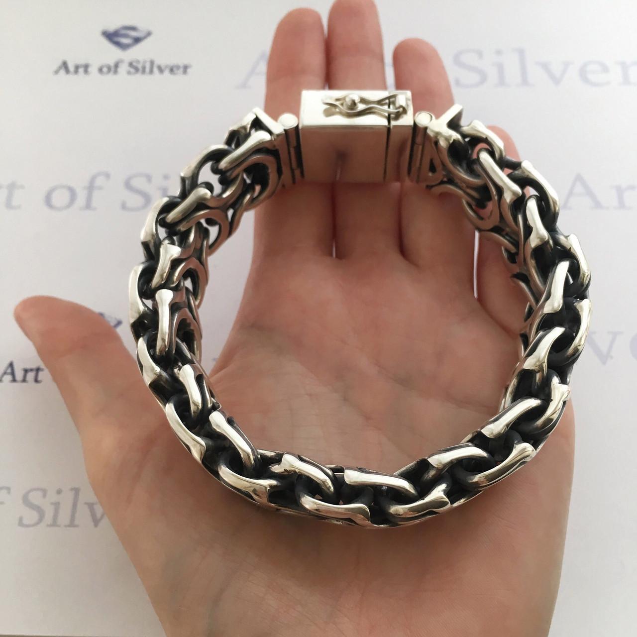 460916d165bb Массивный мужской серебряный браслет Кардинал ( Рамзес).  продажа ...