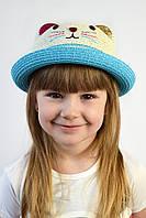 Шляпа детская Кошка голубая