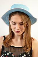 Шляпа Канотье голубая