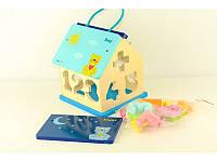 """Детская развивающая игрушка Baby Mix """"Деревянный домик сортер"""" (HJ-D93754)"""