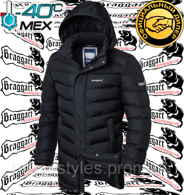 Куртка зимняя длинная на меху Braggart Aggressive